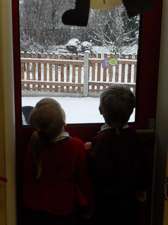 Look, it's snowing!