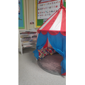Every class has a dedicated reading area where children can cosy up with a good book!