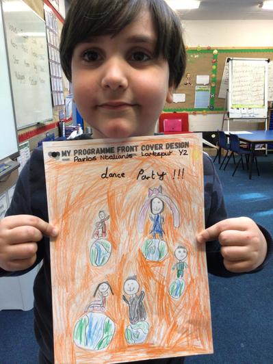 Pavlos has designed a poster for this year's #Dance Unite Project