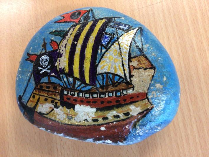 Mrs Slater's inspiring pebble painting
