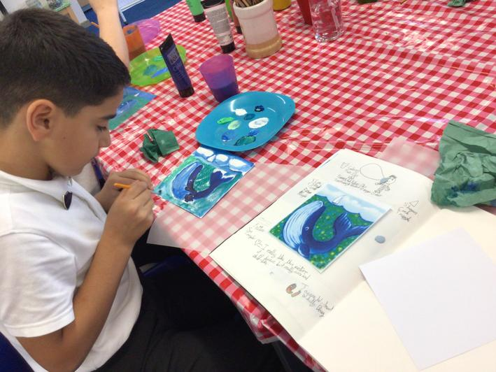 Using acrylics with colour mixing