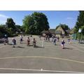 We had sprint races.