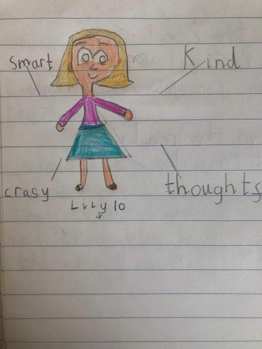 We have all designed our own character and thought of adjectives to help us describe them.