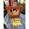 A puppet show with our mini-mes!