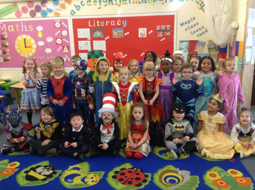 Maple Class loved dressing up...