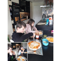 Home economics -making and scoffing homemade pizza