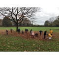 We loved playing in the Autumn leaves.