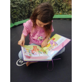 You can read anywhere, even on the trampoline.