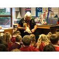 Mrs Stewart came to talk to us about old toys.