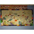 Our Art Wall - inspired by Mondrian & Kandinsky