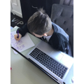 Working hard during Third Space - well done!