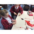 We experimented with conductors and insulators