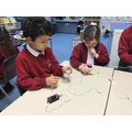 In Science we have been making simple circuits