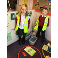 In our new recycling centre!