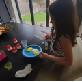 Science: Making bath scents with a science kit.