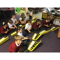 Playing on the Glockenspiel in Music