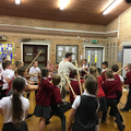 Year 4's Stone Age Experience Day.