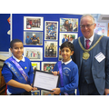 Mazan and Saleh with the Lord Mayor of Liverpool.