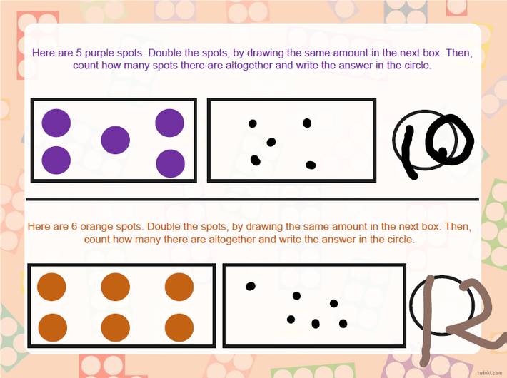 Doubling using spots.