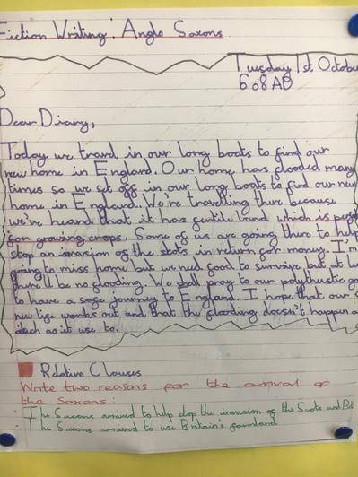 Writing across the Curriculum: Anglo Saxons