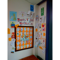 Displaying our responses in our classroom.