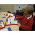 Children have mark-making opportunities everywhere