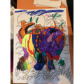 A very colourful triceratops