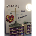 Sharing our Sorrows - Jesus on the Cross.