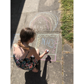 Ellie doing some art work to support the nhs.