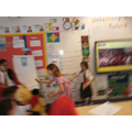 Acting out charaters from the painting