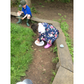 Forest School - making butterfly feeders.