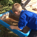 Forest School - washing up.