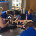 Co-operation, building the marble run.