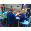 Choosing Time - construction using Lego.