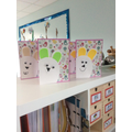 Our completed Easter cards.