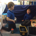 Indoor Forest School - den making/role play.