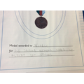 Winkie the pigeon's medal