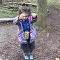 Forest School - ready to hang the bird feeders.