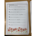 Remembrance Day acrostic poem