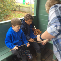 Forest School - how to hold our sticks correctly.