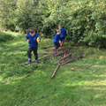 Forest School - exploring.
