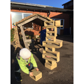 We can practise our building and balancing skills.