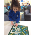 Focussed Activity - monster word scrabble.