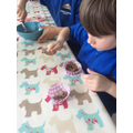 Making our Easter nests.