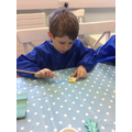 Focussed Activity - painting decorations.