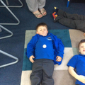 Mindfulness using pebbles to see our breathing.