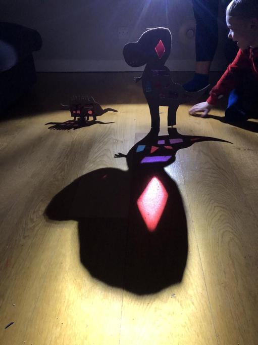 Dinosaurs in the dark!