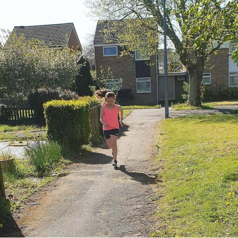 Tilly has been trying to raise some money for the NHS by running 100 laps of the square near her house. She has already more than doubled her goal of £100!