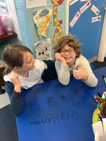 We love writing on the tables!