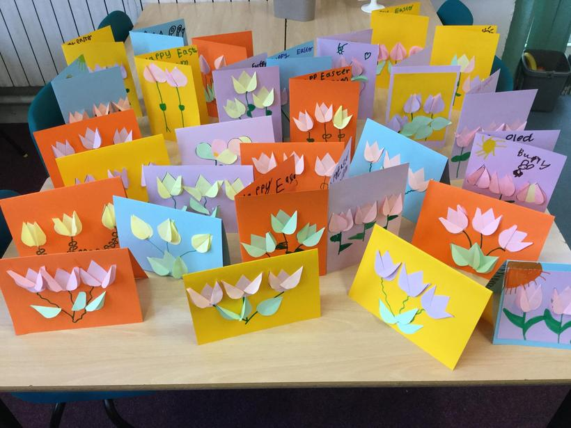 Cards for Hazeldene Care Home from our choir